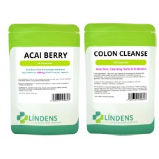 Lindens Acai Berry / Colon Cleanse Combination Pack