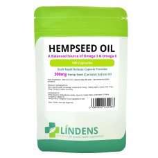 Lindens Hemp Oil 300mg 100 capsules