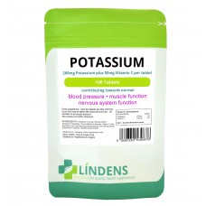 Lindens Potassium, 100 Tablets, 200mg