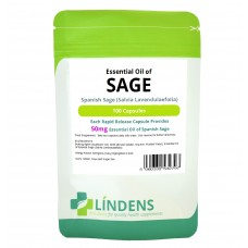 Lindens Essential Oil of Sage 100 Capsules