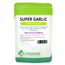 Lindens Super Strength Garlic; 6000mg; Odourless; 120 capsules (oil softgels)