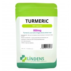 Lindens Turmeric 500mg; 100 Capsules (curcumin rich - no additives)