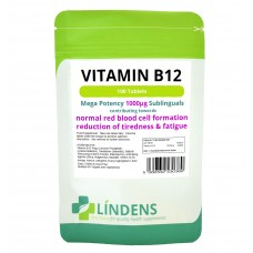 Lindens Vitamin B-12 1000mcg high potency 1-a-day; 100 tablets;
