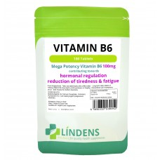 Lindens Vitamin B-6 100mg high potency 1-a-day